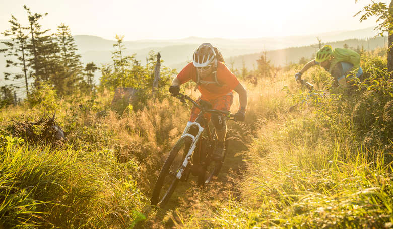 e-Bike auf dem Up Hill Flow - Bosch Performance Line